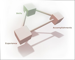 Skills, experience, accomplishments triangle